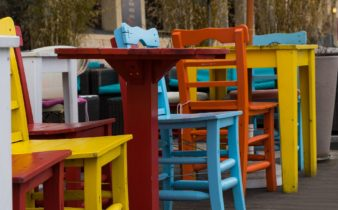 Spring break colorful chairs